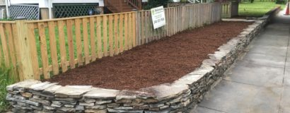 Stone Retaining Wall and New Flowerbed